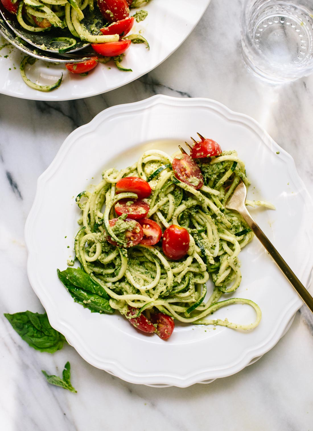 Zoodles with Mint Chimichurri and Tomatoes