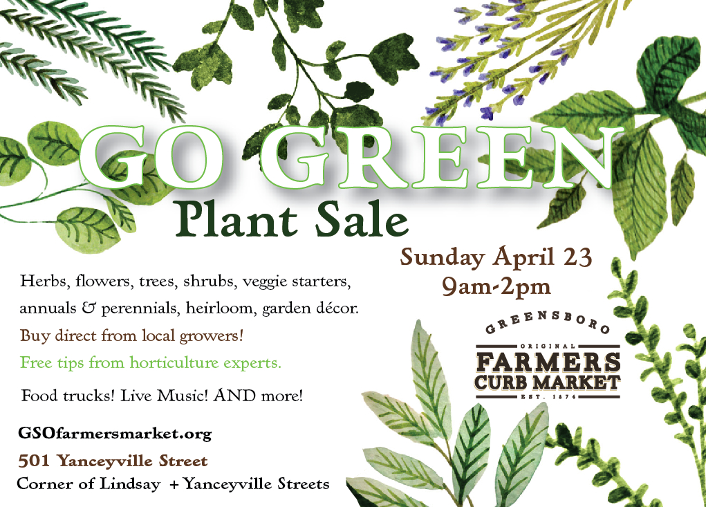 Updated: Go Green Annual Plant Sale April 23, 2017
