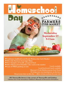 Homeschool Day @ Greensboro Farmers Curb Market | Greensboro | North Carolina | United States