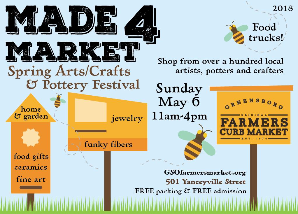 MADE 4 Market Spring Arts, Crafts, & Pottery Show: Call for Vendors