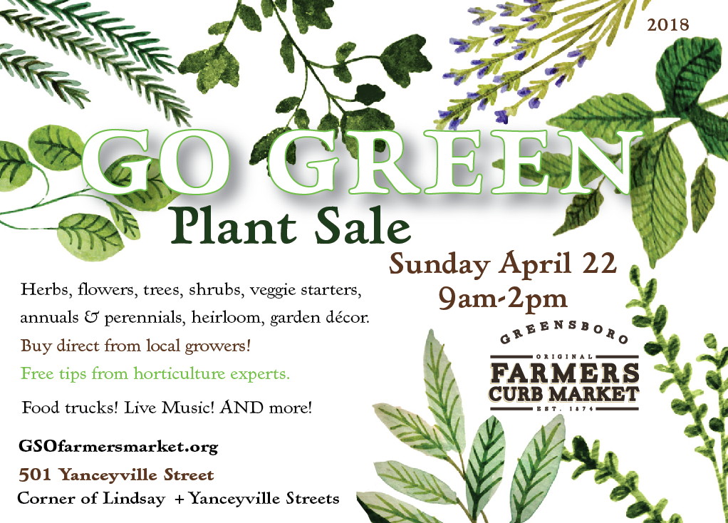 Go Green Annual Spring Plant Sale: Call for Vendors